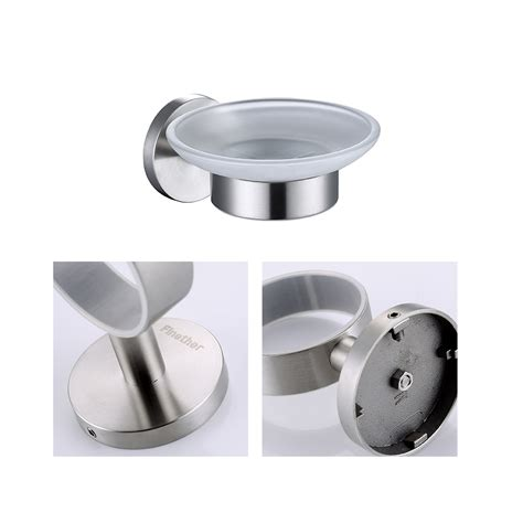 Finether Wall Mounted Brushed Stainless Steel Soap Dish Brushed Stainless Steel Bathroom Accessories