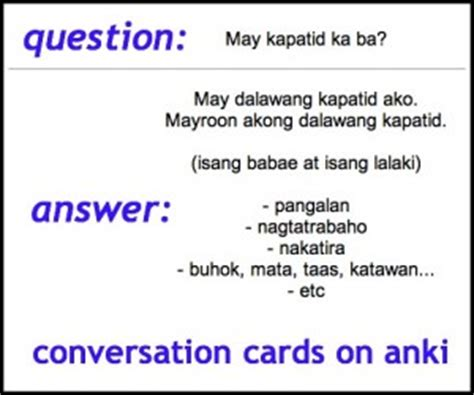 Or Question Tagalog Conversation For Absolute Beginners Questions Cards In And Tagalog
