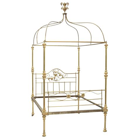 brass canopy bed 19th century victorian brass four poster canopy bed from
