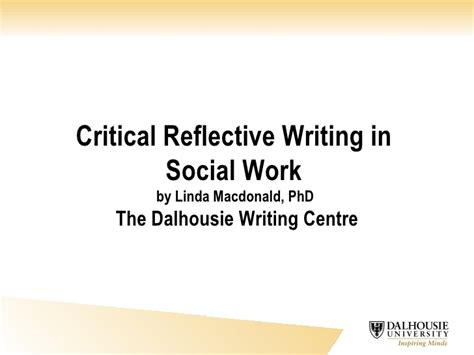 Social Work Report Writing Tips by Critical Reflective Writing