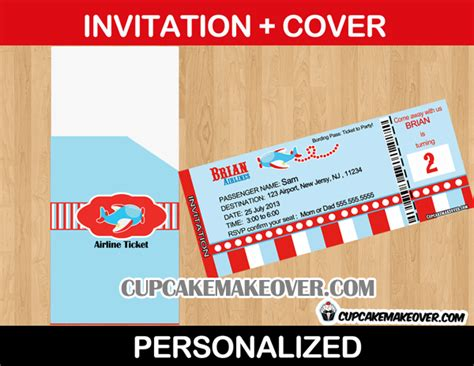 Free Printable Airline Ticket Invitation Orderecigsjuice Info Airplane Birthday Invitation Template