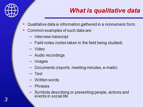 exle of qualitative data qualitative data analysis and interpretation ppt