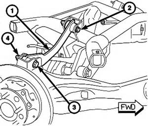 Jeep Patriot Rear Suspension Diagram And Lower Rear Trailing Arm Bushing Removal