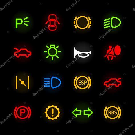 Licht Auto Symbole by Iconos Del Tablero De Instrumentos Auto Vector De Stock