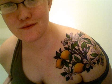 lemon tattoo lemon branch search marks