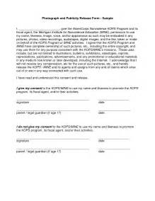 consent release form template best photos of photo consent release form template