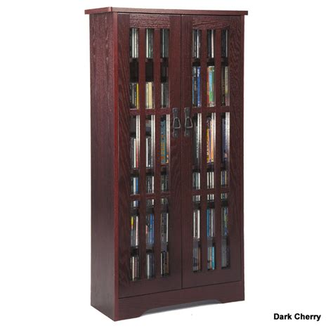 Leslie Dame Cd Storage Cabinet With Glass Doors Oak Media Storage Cabinet With Glass Doors