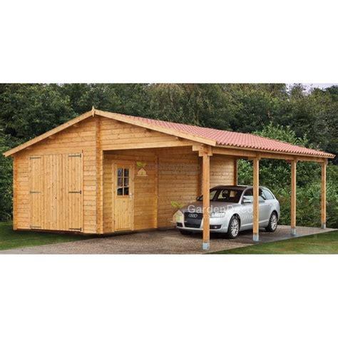tettoia garage garage in legno con tettoia 6 8x5 6 m 45mm 38mq