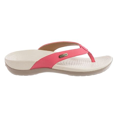 comfortable flip flops for women crocs ella comfort path flip flops for women save 50