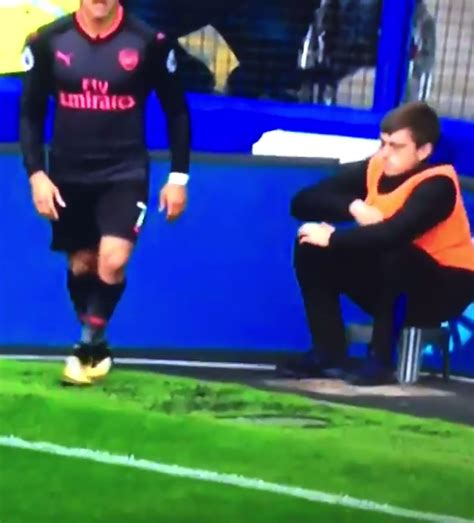 alexis sanchez ball boy ball boy caught pulling out a classic playground trick