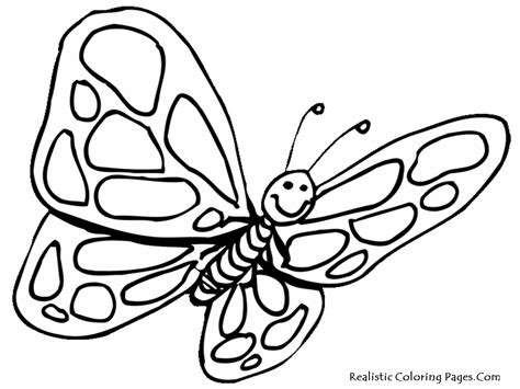 butterfly coloring page for kindergarten realistic butterfly coloring pages realistic coloring pages