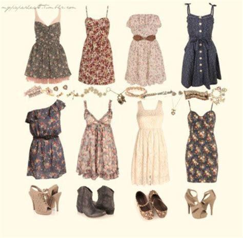 dress clothes sweet flowers summer dress