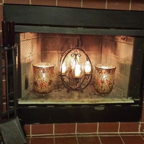 fireplace candelabra pier one fireplace glow facelift hallee the homemaker