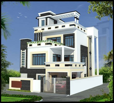 bungalow floor plan with elevation ghar planner leading house plan and house design drawings provider in india gharplanner