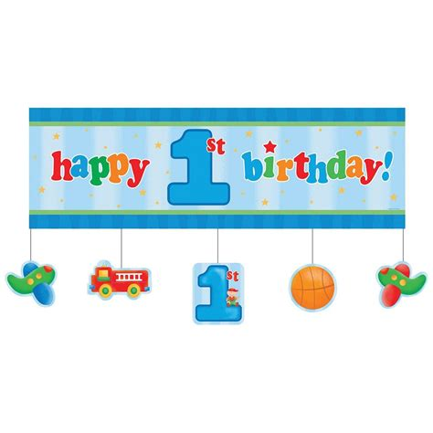happy first year birthday fun at one boys happy first birthday party supplies