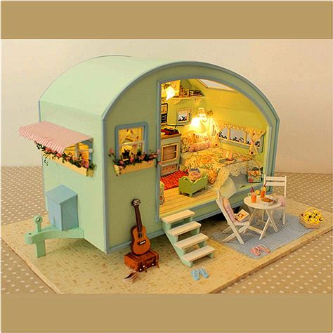 doll house music diy wooden dollhouse miniature kit doll house led music voice control alex nld