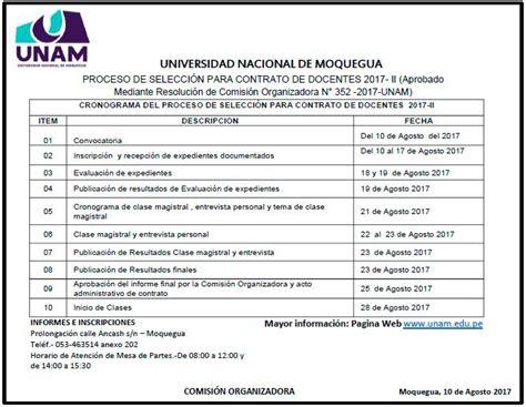 contrato docente 2017 plazas contrato docente 2017 ii unam