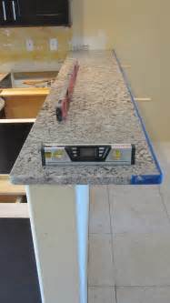 Standard Bar Top Overhang by Granite Overhang Limits For Your Kitchen Countertops
