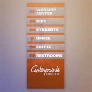 Church Foyer Decor Hopper Design Studio 187 Centerpointe Direction Banner