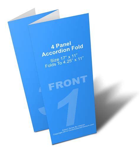template for 11 x 17 4 fold card 4 panel accordion brochure mock up cover actions premium