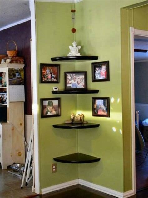 how to decorate a corner wall creative wall corner shelves