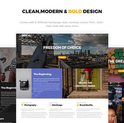 Cizarua Responsive One Page Portfolio Template geuz responsive one page portfolio template by ridianur