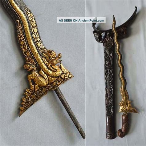 keris singo barong new keris singo barong 13 luk new creation with gold kriss