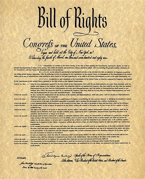 Printable Version Of The Bill Of Rights | bill of rights 8th grade social studies