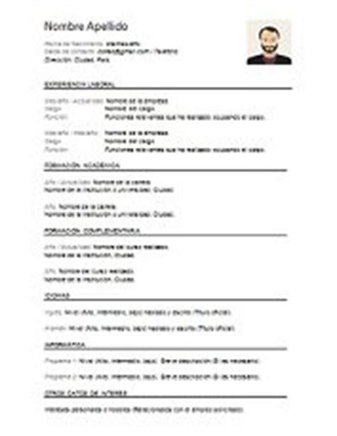 Modelo Curriculum Vitae Argentina 2017 Plantillas De Curriculum Vitae En Word Para Descargar Gratis