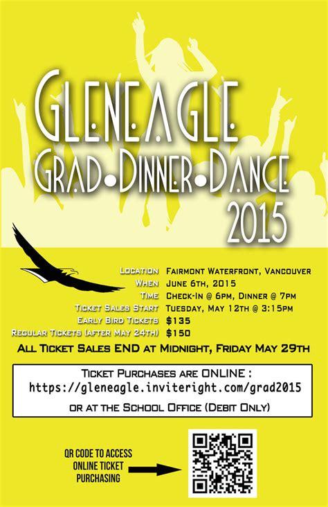 dinner poster news announcements grad 2015 dinner