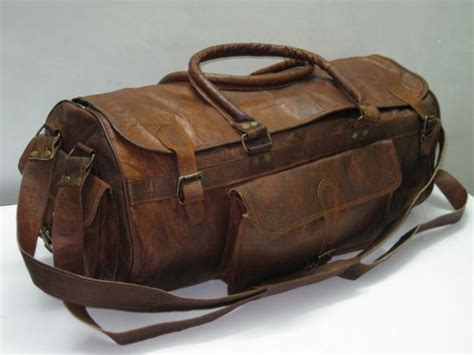 Handmade Duffle Bags - handmade 21 quot leather duffel sports utility travel