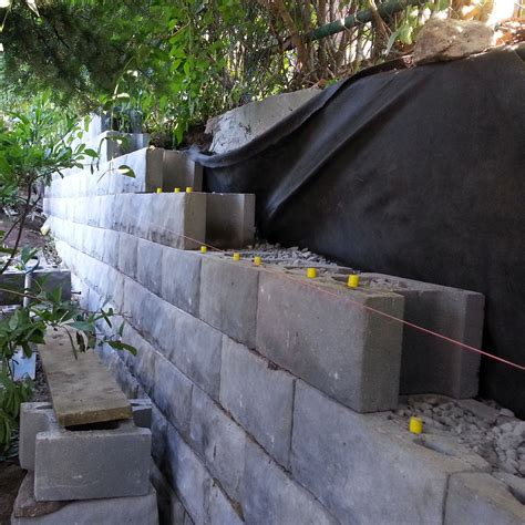 Retaining Wall Products by Concrete Blocks Retaining Wall Home Ideas