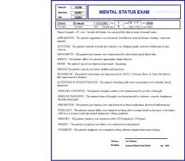 Mental Status Template by Mini Mental Status Template Quotes