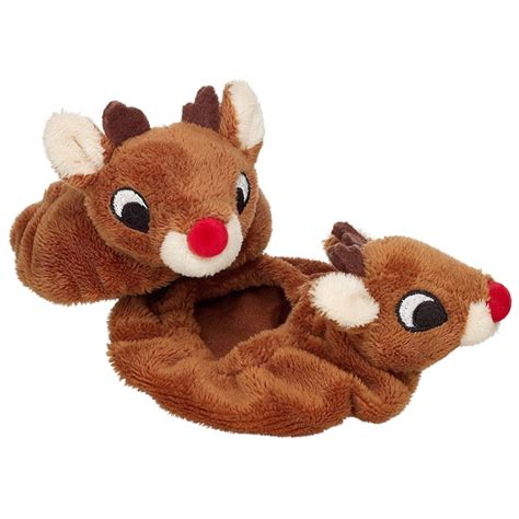rudolph slippers ho ho ho jammie jam wing library