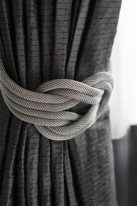 drapery rope tiebacks mesh nautical knot drapery tiebacks grays richmond