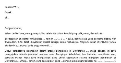 contoh surat permohonan beasiswa pendidikan s1 s2 s3 yang benar