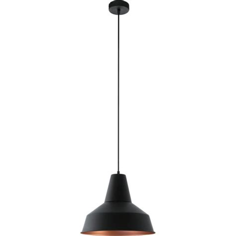 Black And Copper Pendant Light Eglo 49387 Somerton 1 Light Ceiling Pendant Black Copper
