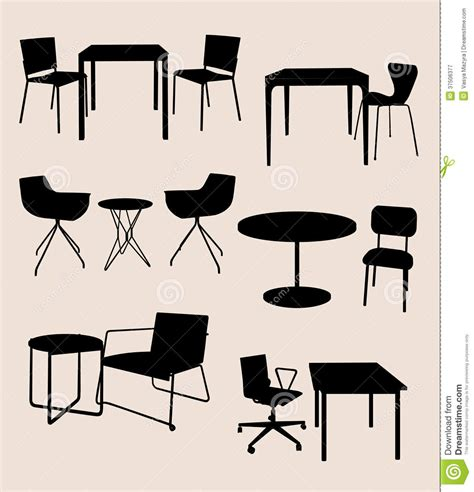 photoshop rubber st tool cafe table and chairs clipart