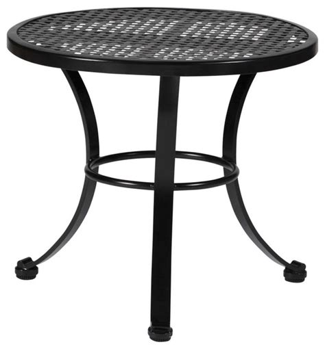 Wrought Iron Patio Side Table Verano Wrought Iron Mesh End Table Outdoor Side Tables Birmingham By Summer Classics
