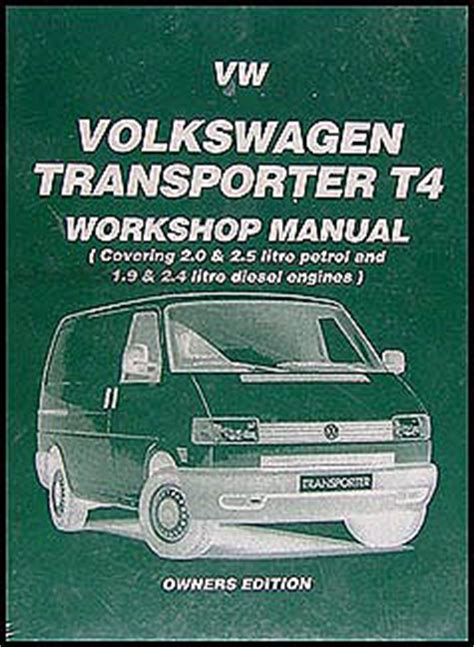 1990 1995 vw transporter eurovan bus repair shop manual