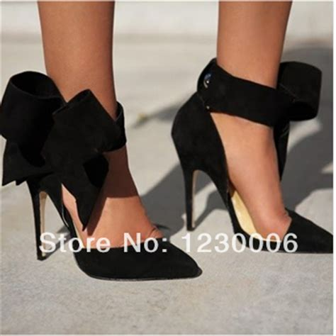 black high heels with a bow black heels with bow
