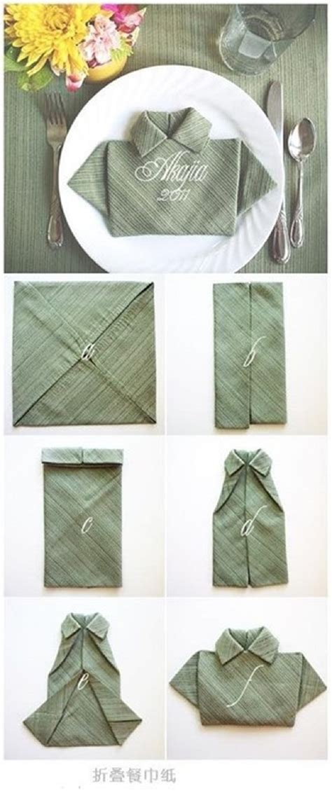 Napkin Origami - 25 napkin folding techniques that will transform your