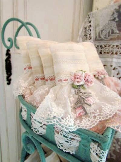lace and ribbon towels edredones pinterest shabby