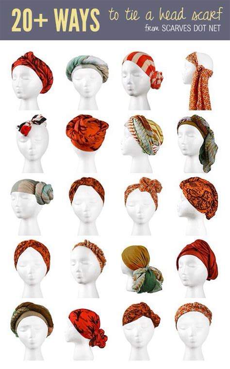 17 best ideas about scarf styles on hair
