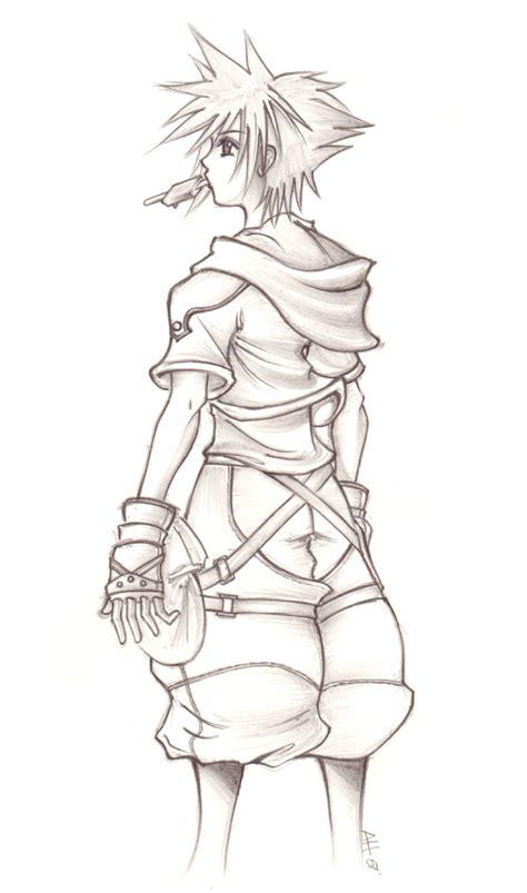 sketchbook sora kingdom hearts ii sora sketch by anii ki on deviantart