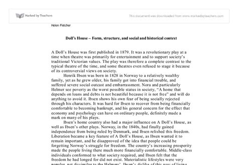 a doll house full text pdf a doll s house form structure and social and historical context a level drama