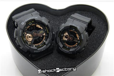g shock baby g ga 110 ba 110 set black