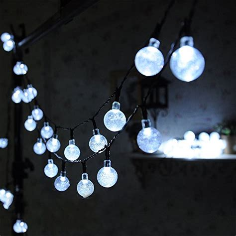 globe solar lights outdoor 30 led solar globe string lights outdoor white