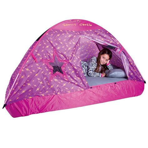 tent for full size bed amazon com pacific play tents kids secret castle bed tent playhouse for full size