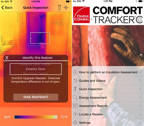 owens comfort systems owens corning energy assessment app for flir one